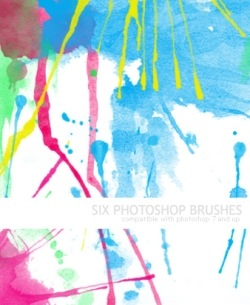 wc15 Photshop Brushes 水彩画調ブラシ 500+